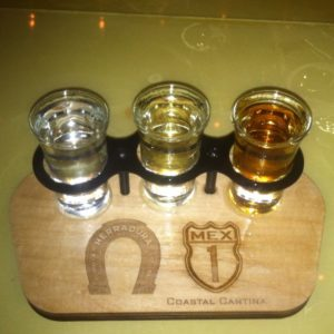 Herradura Flight from Mex 1, one of my FAV tequila bars here in Charleston, SC