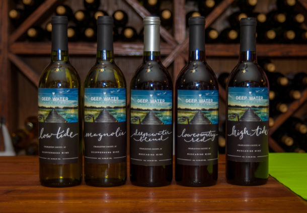 The new labeling for Deep Water Wines. #fancy Photo: Dinwiddie Photography