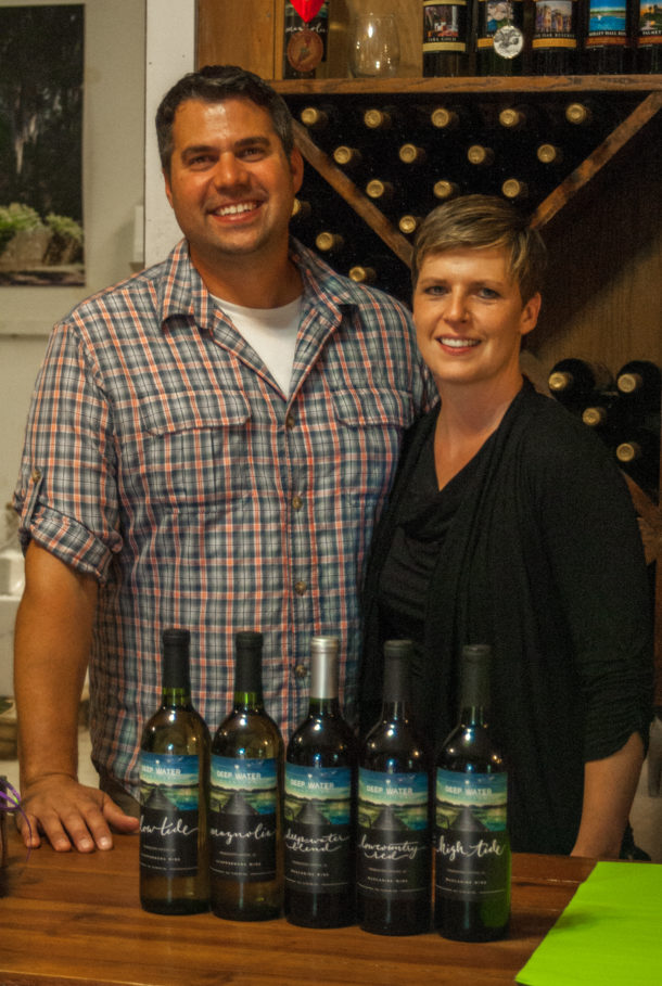 Jesse and Andrea, the new owners of Deep Water Vinyards. Photo: Dinwiddie Photography