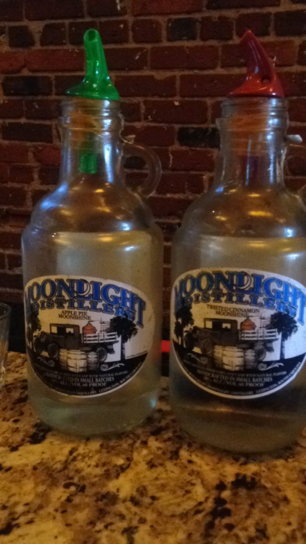 Moonshine from Yesternight Distillery
