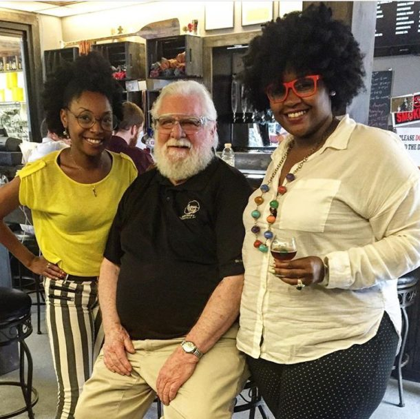 Neka and Johnny with Mr. Thomas of Thomas Creek Brewery