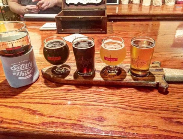 Delicious Flights from Conquest Brewing